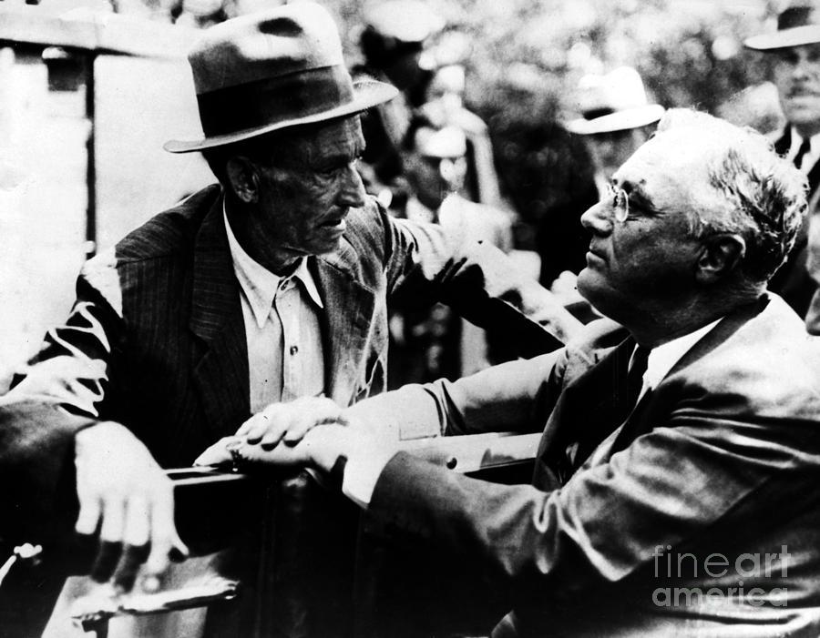 1938 Photograph - Franklin D. Roosevelt by Granger