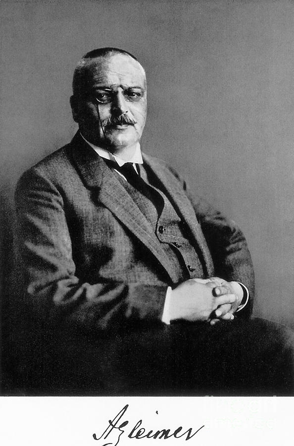 Alois Alzheimer, German Neuropathologist Photograph  - Alois Alzheimer, German Neuropathologist Fine Art Print