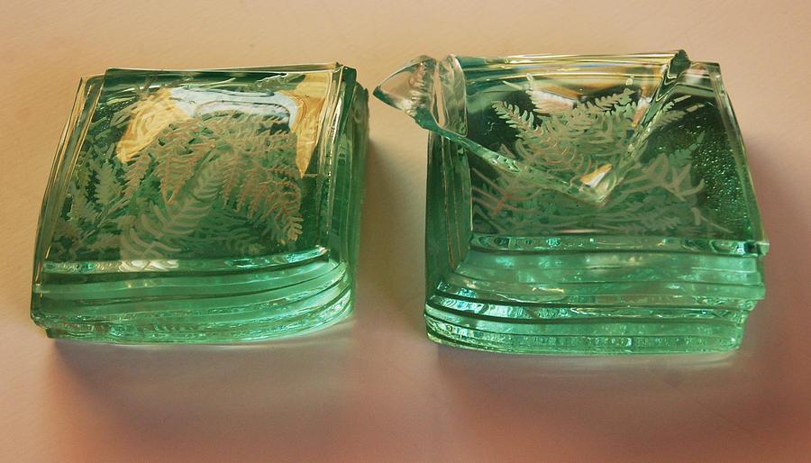Antarctic Ice Flow Glass Art