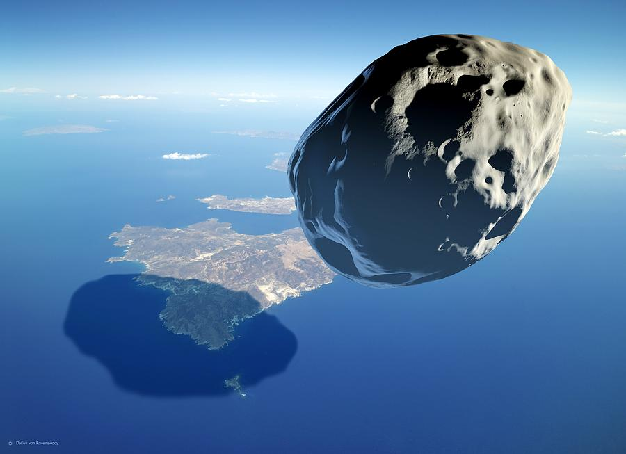 Asteroid Approaching Earth Photograph