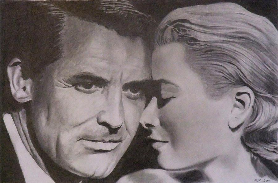Cary Grant and Grace Kelly Drawing - Cary Grant and Grace Kelly Fine Art ...