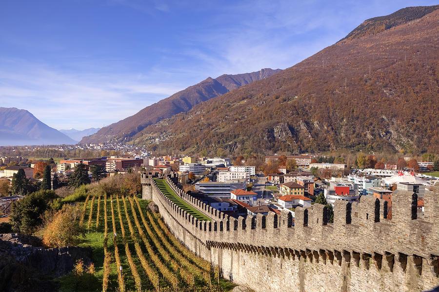 Castelgrande Photograph - Castelgrande - Bellinzona by Joana Kruse