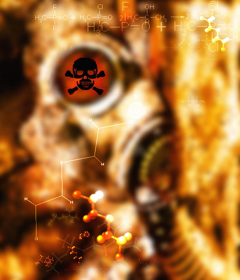 Terrorism Photograph - Chemical Warfare by Mehau Kulyk
