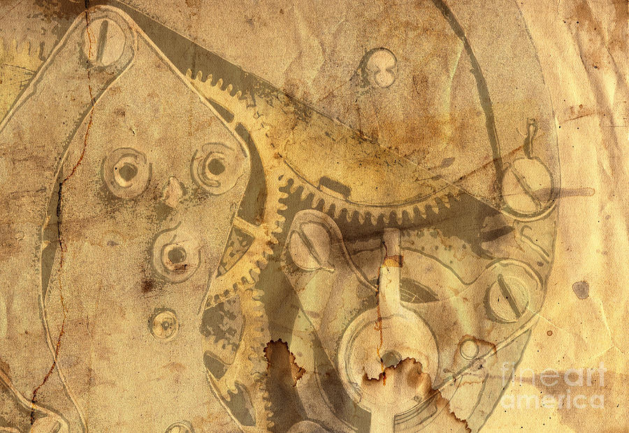 Paper Digital Art - Clockwork Mechanism by Michal Boubin