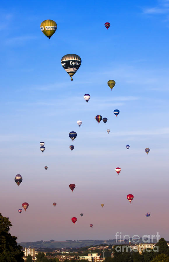 Colorful Balloons On Colorful Sky Photograph