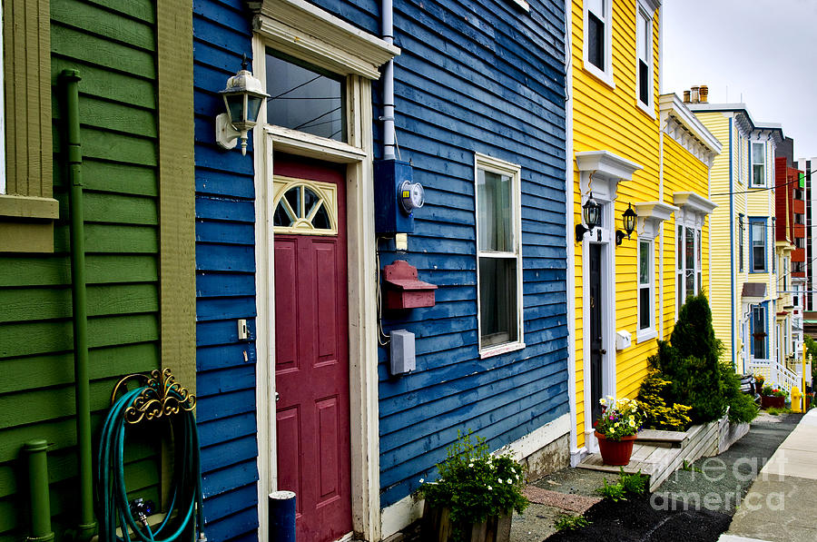 Colorful Houses In St. Johns Photograph