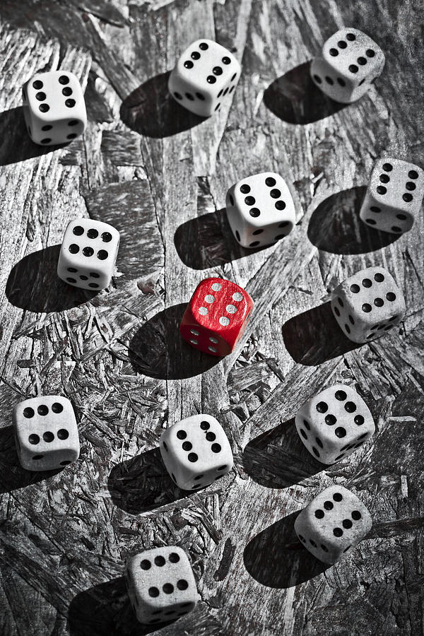Dice Photograph  - Dice Fine Art Print