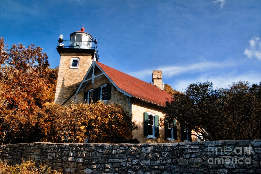 Eagle Bluff Lighthouse Photograph  - Eagle Bluff Lighthouse Fine Art Print