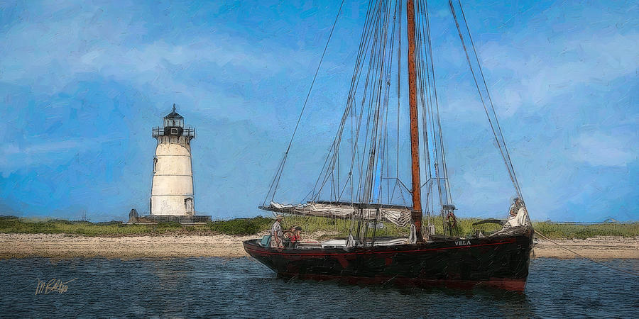 Edgartown Light Digital Art  - Edgartown Light Fine Art Print