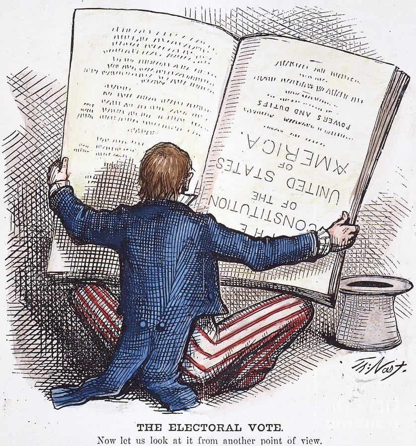 Election Cartoon, 1876 Photograph