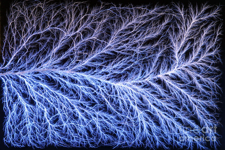 Electrical Discharge Lichtenberg Figure Photograph By Ted