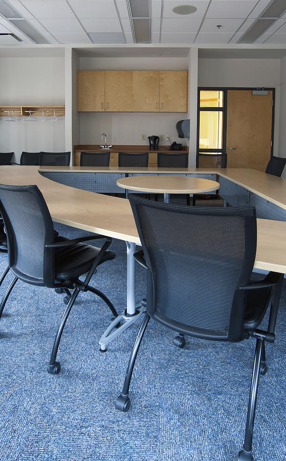 Mood Photograph - Empty Boardroom Or Meeting Room In An by Marlene Ford