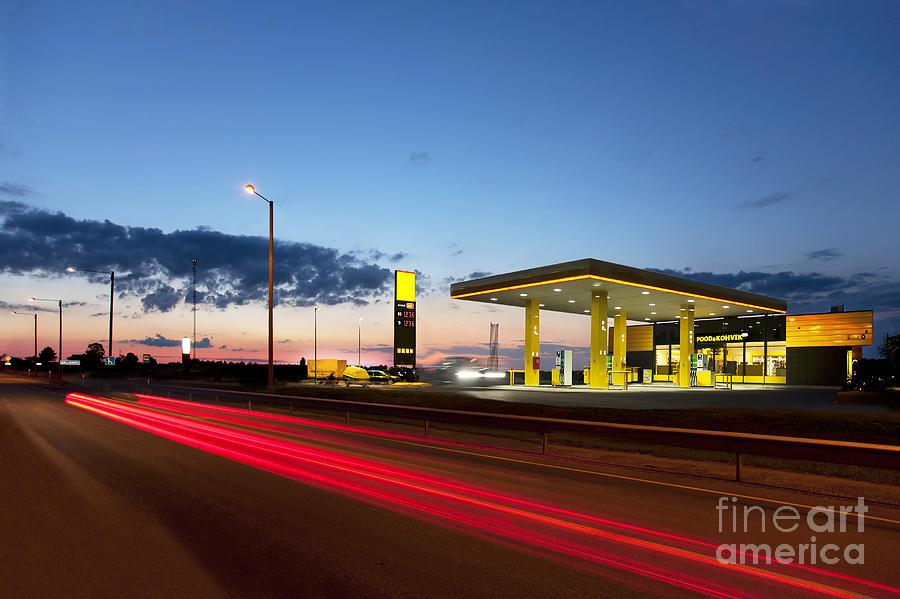 Estonian Gas Station Photograph