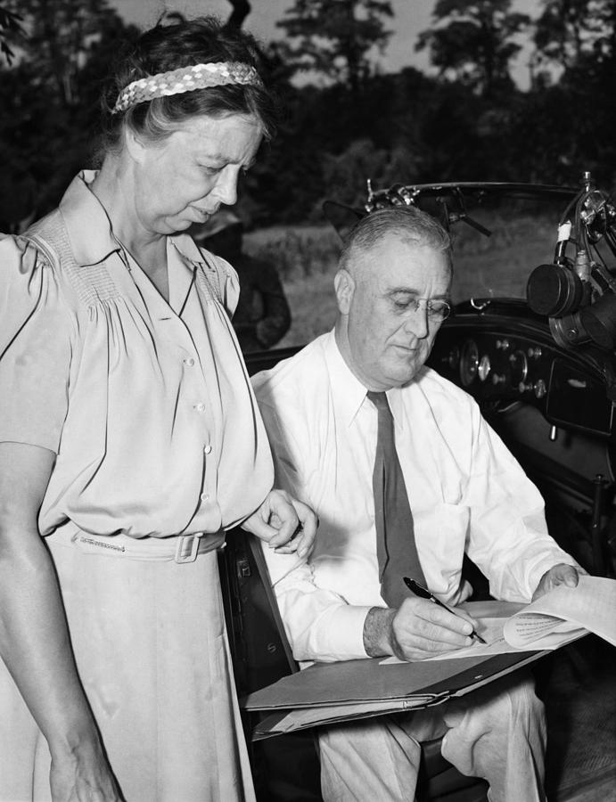 Fdr Presidency. First Lady Eleanor Photograph  - Fdr Presidency. First Lady Eleanor Fine Art Print