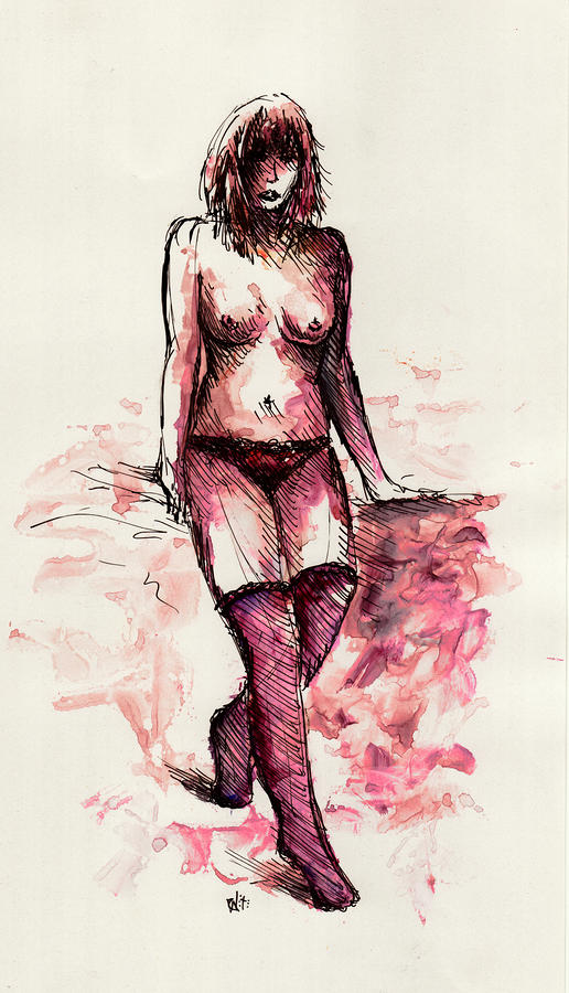 Figure Study Drawing  - Figure Study Fine Art Print