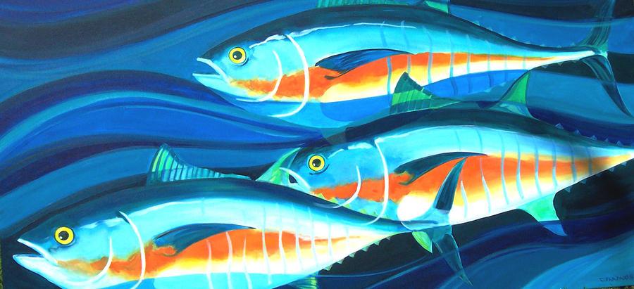 3 Fish School Painting