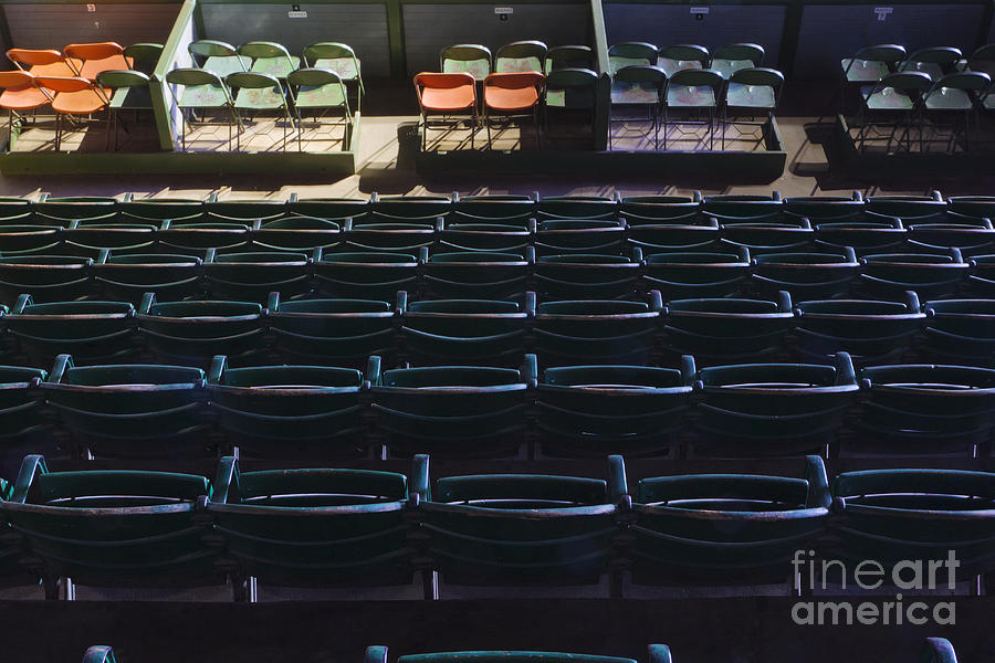 Fort Worth Stockyards Coliseum Seating Photograph  - Fort Worth Stockyards Coliseum Seating Fine Art Print