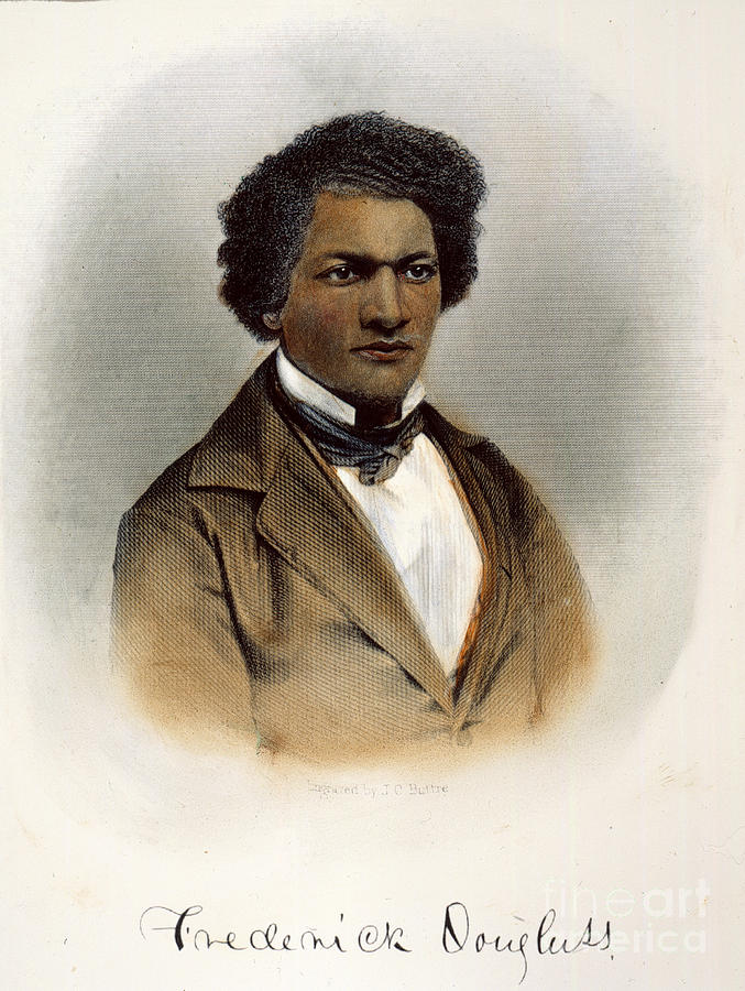 1854 Photograph - Frederick Douglass by Granger