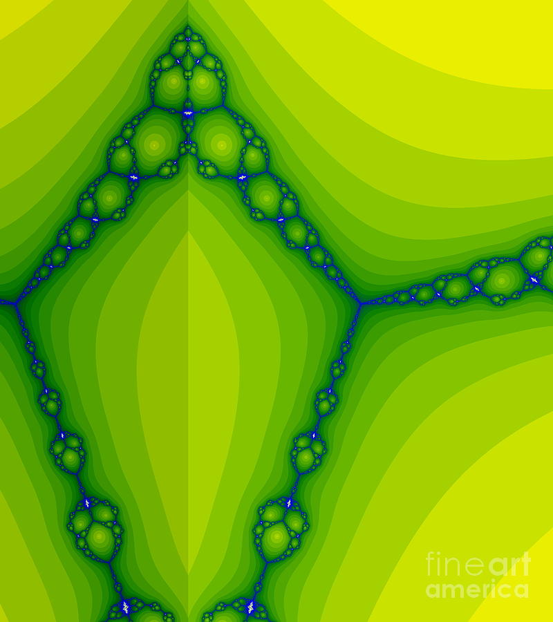 Green Fractal  Digital Art  - Green Fractal  Fine Art Print