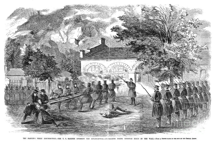 1859 Photograph - Harpers Ferry, 1859 by Granger