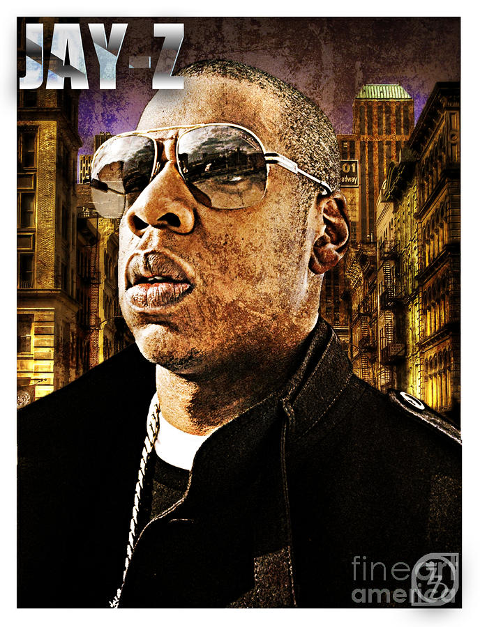 Music Digital Art - Jay Z by The DigArtisT