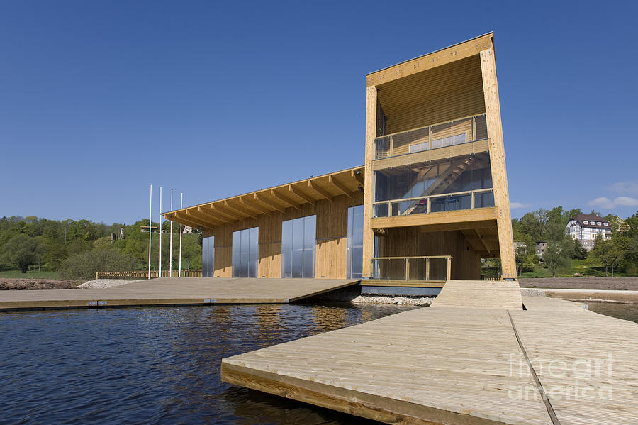 Lakeside Building And Dock Photograph
