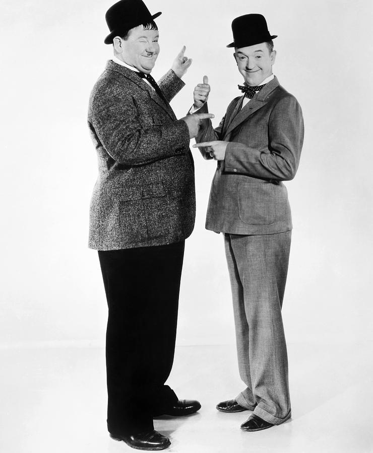 Laurel And Hardy Photograph