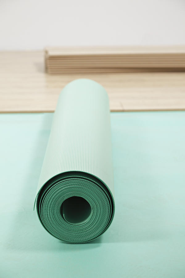Laying A Floor. Rolls Of Underlay Or Photograph  - Laying A Floor. Rolls Of Underlay Or Fine Art Print