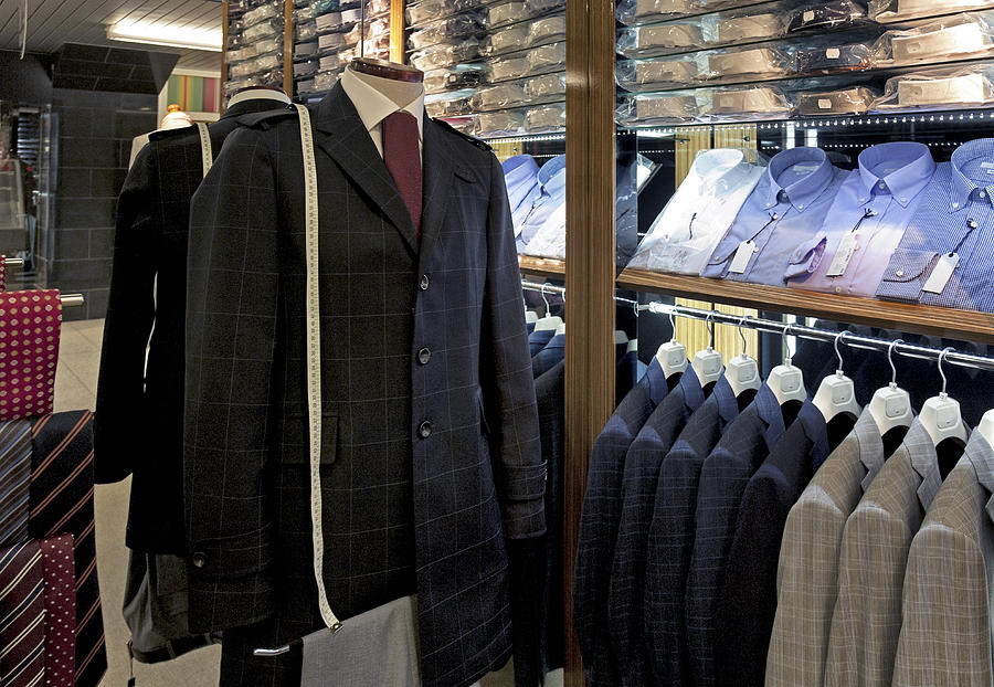 Menswear On Display At A Clothes Shop Photograph