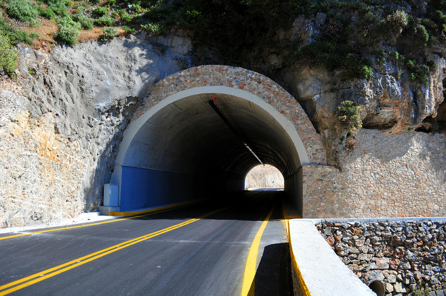 Mountain Tunnel. Photograph