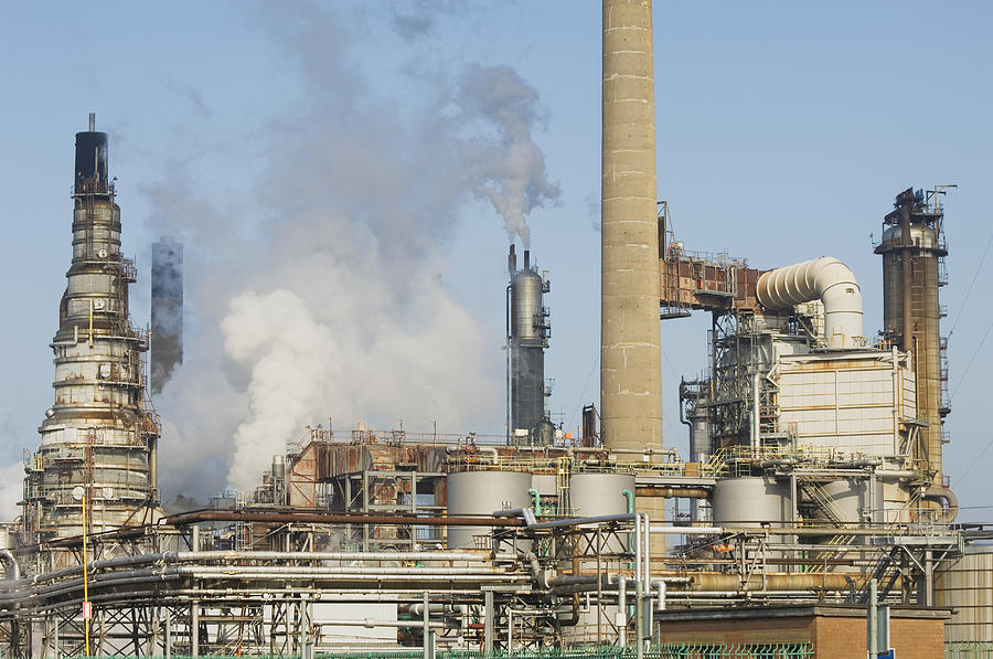 Oil Refinery Buildings At Grangemouth Photograph