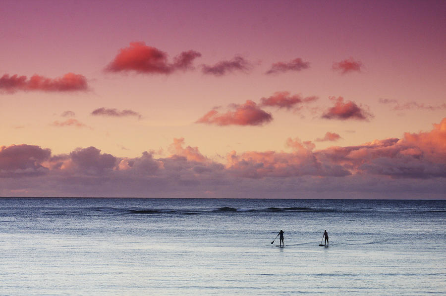 Paddlers At Sunset Photograph  - Paddlers At Sunset Fine Art Print