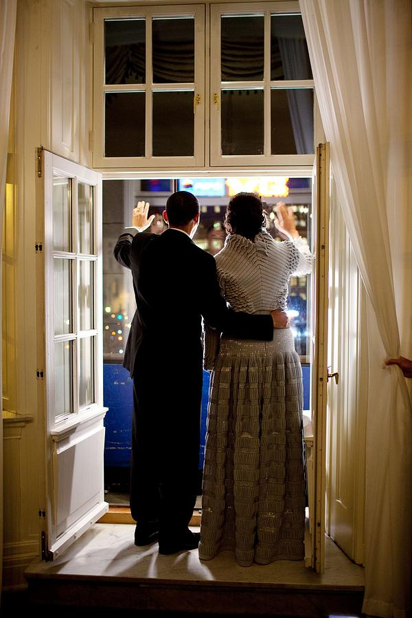 President Barack Obama And First Lady Photograph