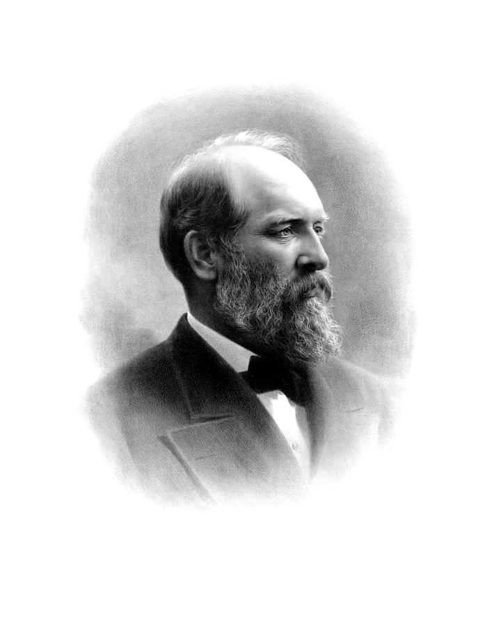 President James Garfield Drawing