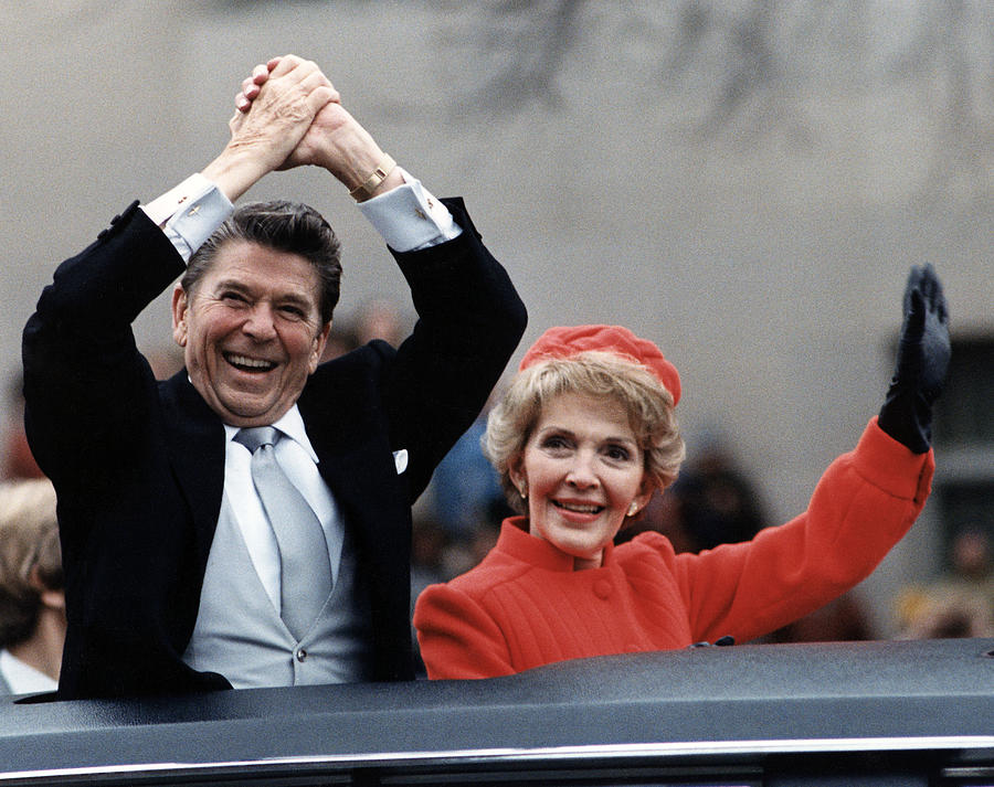 President Ronald Reagan And First Lady Photograph