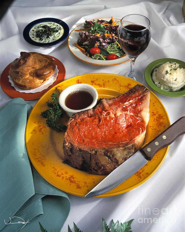 Prime Rib Dinner Photograph  - Prime Rib Dinner Fine Art Print