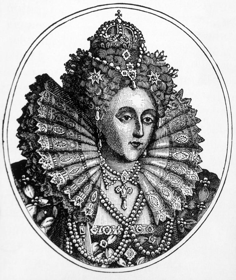 Queen Elizabeth I 1533-1603  Queen PhotographQueen Elizabeth 1 Black And White