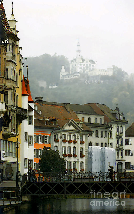 Rainy Day In Lucerne Photograph  - Rainy Day In Lucerne Fine Art Print