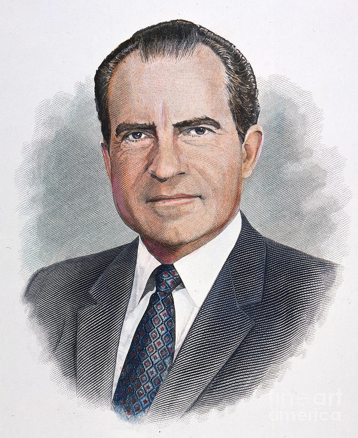 Richard Nixon (1913-1994) Photograph by Granger