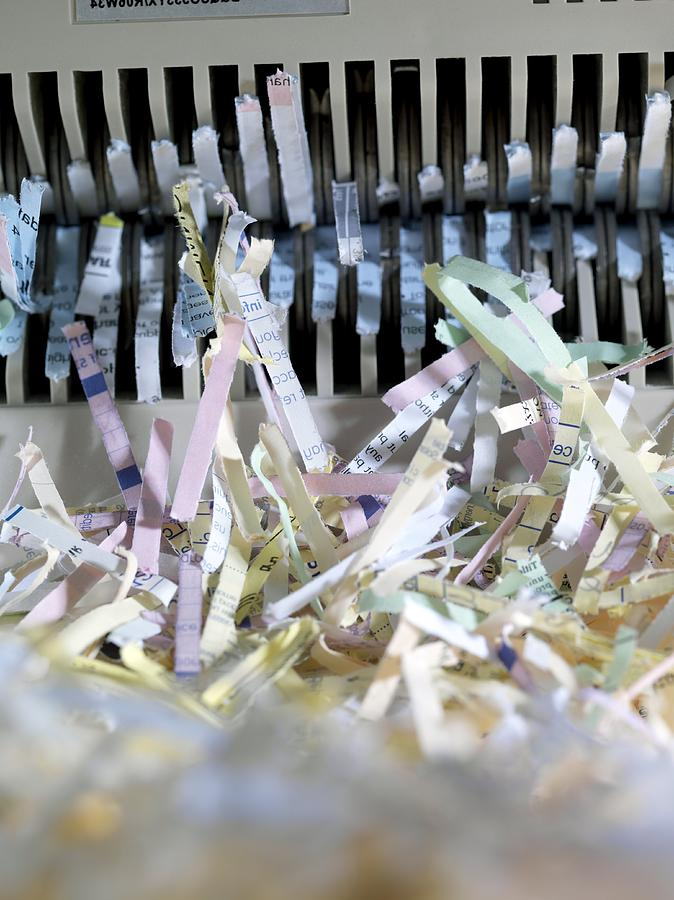Shredded Paper Photograph