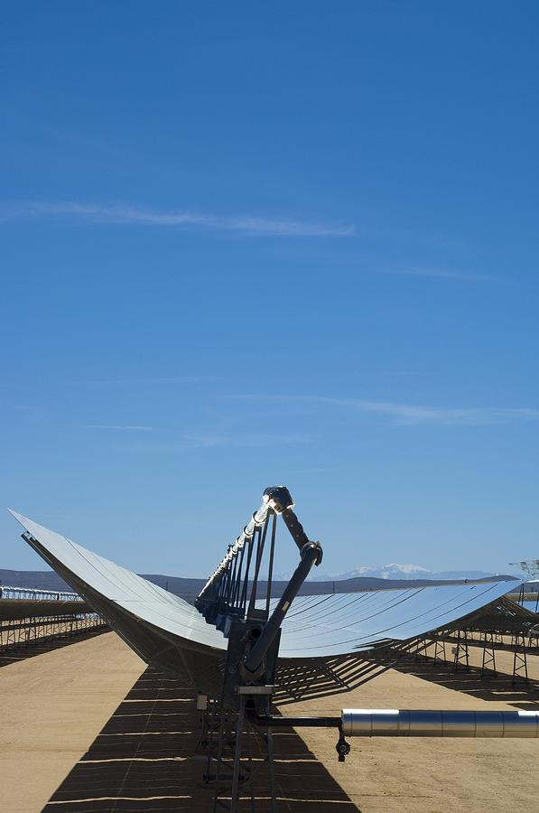 Solar Energy Generating  Photograph - Solar Parabolic Mirror, California, Usa by David Nunuk
