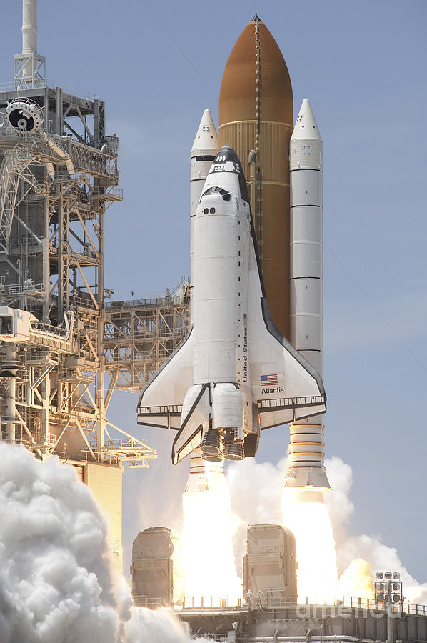 Space Shuttle Atlantis Twin Solid Photograph  - Space Shuttle Atlantis Twin Solid Fine Art Print
