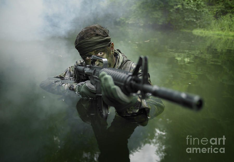 Special Operations Forces Soldier Photograph  - Special Operations Forces Soldier Fine Art Print
