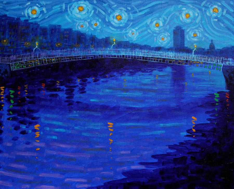 Starry Night In Dublin Painting