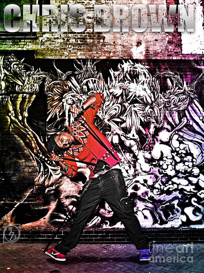 Chris Brown Digital Art - Street Phenomenon Chris Brown by The DigArtisT