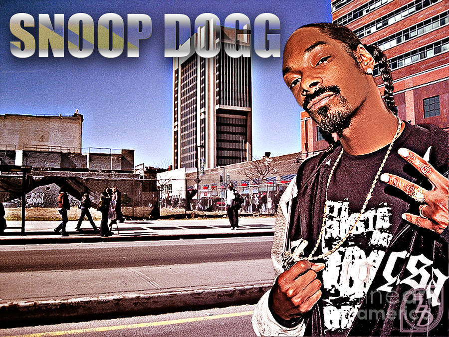 Street Phenomenon Snoop Dogg Digital Art  - Street Phenomenon Snoop Dogg Fine Art Print