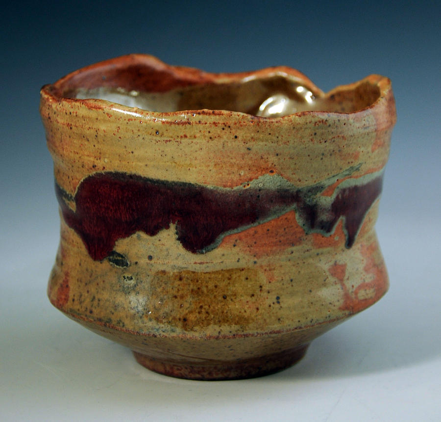 Clay Ceramic Art - Tea Bowl by Alejandro Sanchez