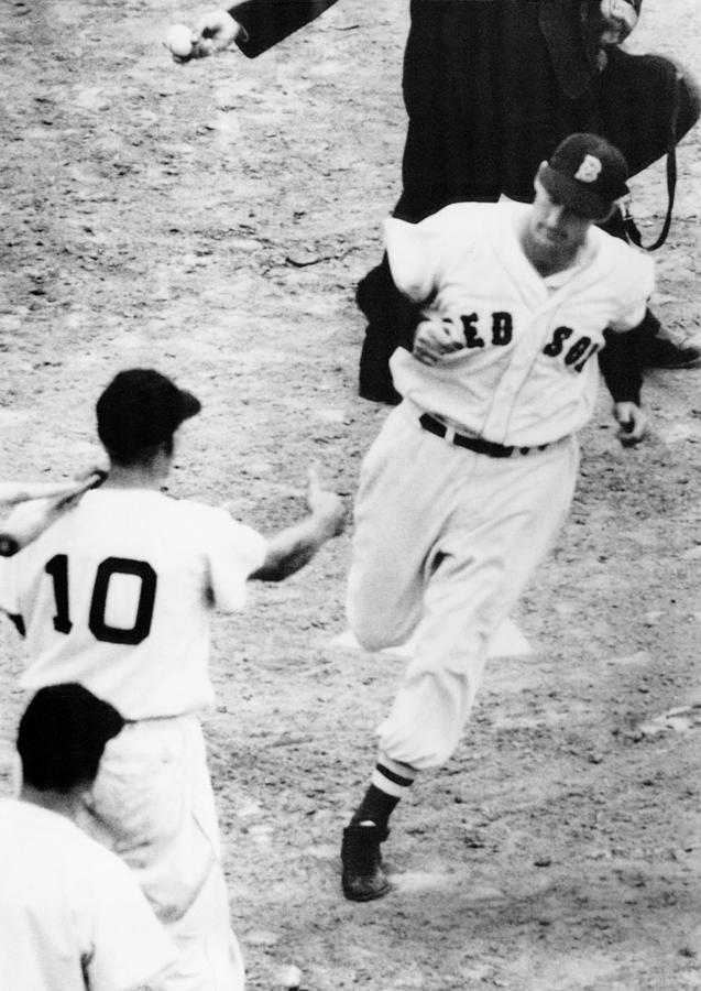 Ted Williams Of The Boston Red Sox Photograph  - Ted Williams Of The Boston Red Sox Fine Art Print