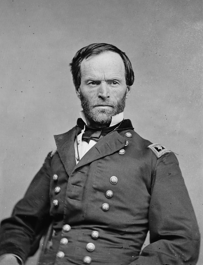 The Civil War. General William Tecumseh Photograph