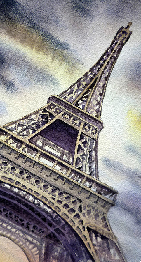 The Eiffel Tower Painting - The Eiffel Tower  by Irina Sztukowski
